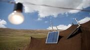 روشنایی صفحههای خورشیدی در سیاه چادرهای عشایر