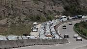 ترافیک در جاده شمال / بی توجهی مردم به ممنوعیت تردد