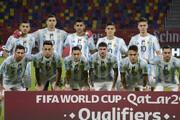 اولین بازی آرژانتین، پس از مرگ مارادونا/عکس