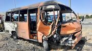 معجزه زنده ماندن 4 نفر از آتش سوزی در تصادفی وحشتناک + فیلم و عکس