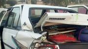 تاکسی و پراید لوله شد / 3 مصدوم در پی تصادف هولناک