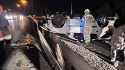 واژگونی خونین پژو 206 / در اصفهان اتفاق افتاد