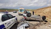 واژگونی مرگبار جان خواهر و برادر کرمانی را گرفت/ ۲ کشته و ۴ مصدوم