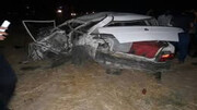 واژگونی خونین خودرو سواری در آبادان / پراید له شد