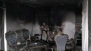 حریق واحد مسکونی خسارات زیادی به بار آورد / در ورامین اتفاق افتاد + عکس
