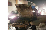 تصادف شدید در آزادگان/ یک مصدوم به همراه داشت + عکس