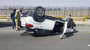 واژگونی مرگبار خودرو یک کشته و یک مصدوم بر جای گذاشت