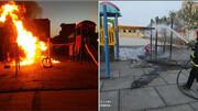 پارک محله ۱۰ صفائیه اصفهان آتش گرفت + عکس