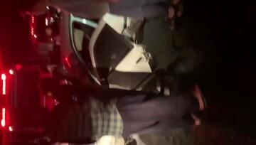 برخورد خونین دو دستگاه خودرو در کرمانشاه / بامداد امروز اتفاق افتاد+ فیلم