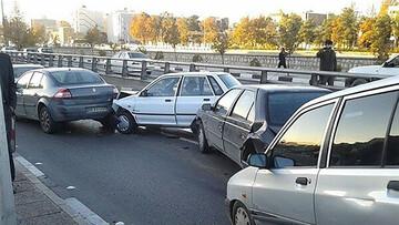 تصادف زنجیره ای در پاکدشت / صبح دیروز اتفاق افتاد