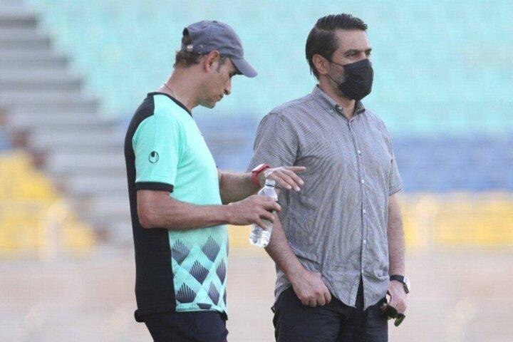استراحت گلمحمدی به بازیکنان پرسپولیس