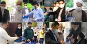 حضور مداحان و سخنرانان مذهبی پای صندوق های رای
