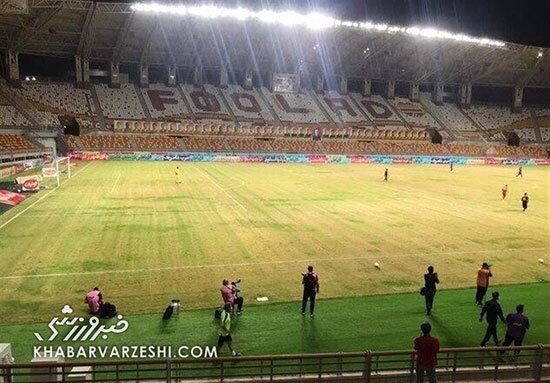 زمین چمن فولاد خوزستان ناگهان سبز شد!