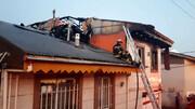 آتش سوزی خطرناک منزل مسکونی/ در رشت رخ داد + عکس