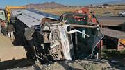 واژگونی اتوبوس 12 مصدوم برجای گذاشت/ صبح امروز رخ داد