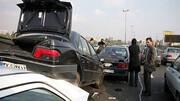 تصادف هولناک 4 خودرو در آزادگان/ خسارات جانی نداشت