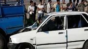 مصدومیت 2 کودک و 4 مرد جوان در تصادف یاسوج / پراید مچاله شد !