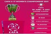 برنامه زمانبندی رقابتهای فوتبال نوجوانان کافا