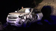 واژگونی هولناک خودرو تیگو در بامداد امروز  + عکس