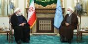 دیدار روحانی با رئیس جدید قوه قضائیه
