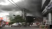 مهار آتش سوزی وحشتناک ساختمان تجاری / در بابل اتفاق افتاد +فیلم