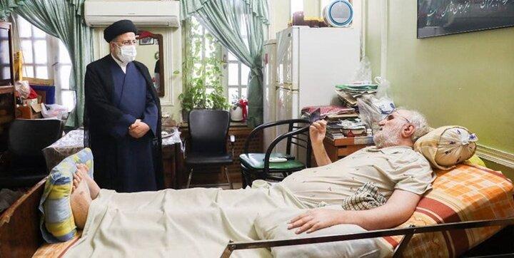 حضور سرزده رئیس جمهور منتخب در آسایشگاه جانبازان امام خمینی(ره)