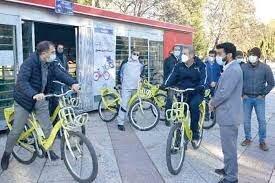 راه اندازی دومین ایستگاه دوچرخه در پارک خیام قرچک/ استفاده رایگان از دوچرخه برای شهروندان