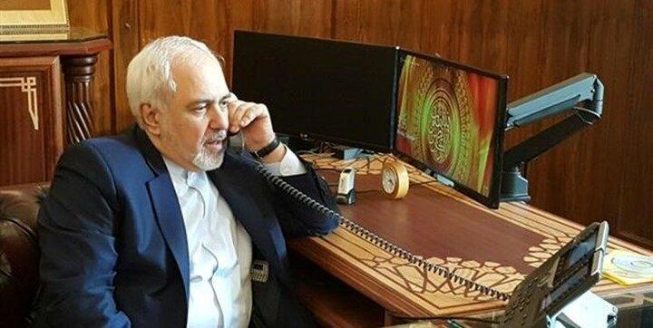 گفت و گو تلفنی ظریف با وزرای خارجه قطر، کویت و جمهوری آذربایجان