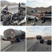 تصادف مرگبار زانتیا و کامیون / مرگ تلخ ۴ سرنشین