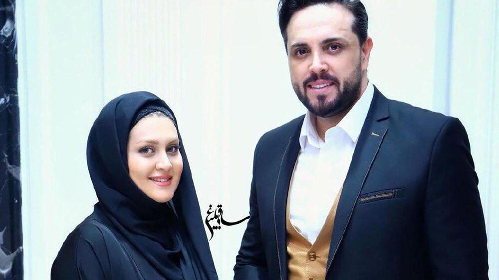 تبریک تولد مجری معروف به سبک همسرش / عکس