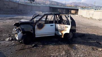 خودرو پراید در بزرگراه باقری جزغاله شد! / عکس