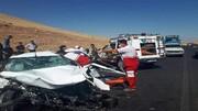 تصادف هولناک دو خودرو فاجعه به بار آورد! / نیسانبا بار خیارشور عابرین تماشاچی را له کرد !