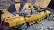 تندباد تاکسی پراید را متلاشی کرد!