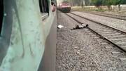 اقدام به خودکشی روی ریل قطار / خودکشی نافرجام ماند !