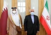 وزیر خارجه قطر با ظریف دیدار و گفتوگو کرد