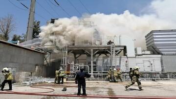 کارخانه سیمان درآتش سوخت!