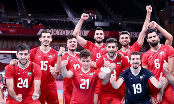 خوشحالیهای خاص بازیکنان تیم ملی والیبال ایران /گزارش تصویری