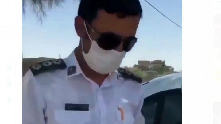 درگیری فیزیکی پلیس راهور و یک راننده / فیلم تلخ