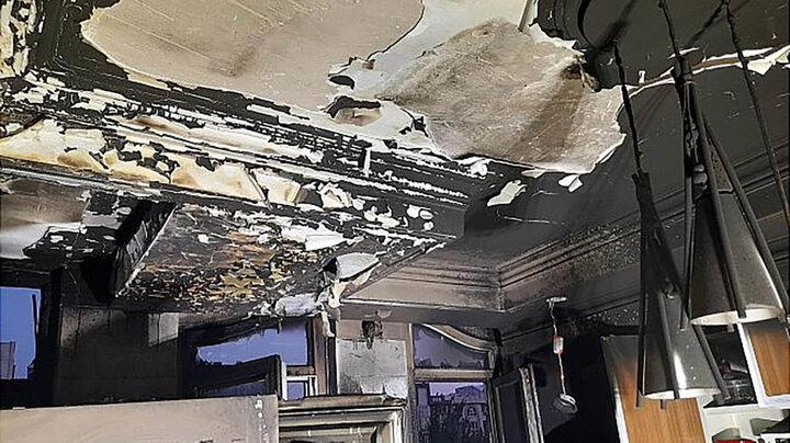 ساختمان ۴ طبقه مسکونی در آتش سوخت !
