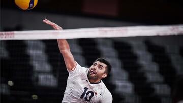 غفور بهترین بازیکن دیدار تیم های ملی والیبال ایران و کانادا