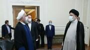 روحانی دفتر کار را به حجت الاسلام رئیسی تحویل داد