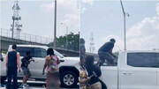 نجات راننده خودرو از چند قدمی مرگ !/ فیلم