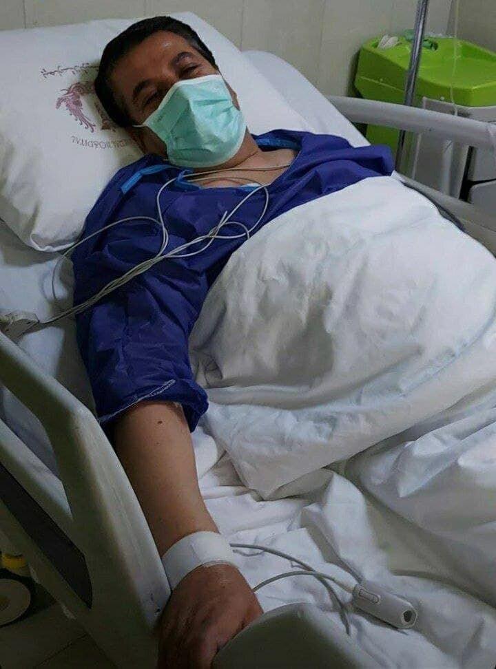 عکس  چهره محبوب استقلالیها در بیمارستان بستری شد