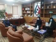 دیدار رئیس کتابخانههای عمومی با رئیس سازمان ورزشی شهرداری قدس