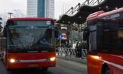 برخورد شدید اتوبوس بیآرتی با گاردریل !