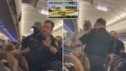 اخراج مسافر از هواپیما به دلیل روشن کردن سیگار + فیلم