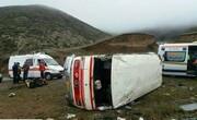 واژگونی مرگبار مینی بوس به دره پالنگان
