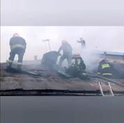 شعله های آتش از ۳ خانه ویلایی زبانه کشید + فیلم