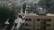 آتش سوزی هولناک یک آپارتمان در مشهد + فیلم