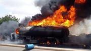 راننده تانکر سوخت زنده زنده سوخت